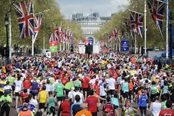 London marathin masses