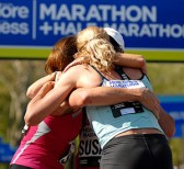 runners hugging