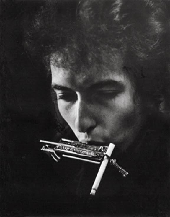 Bob Dylan with Cigarette in Harmonica Holder, Philadelphia, 1964