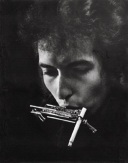 Bob Dylan with Cigarette in Harmonica Holder, Philadelphia, 1964