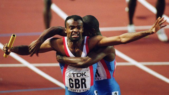 Kris Akabusi and the two most importantwomen.